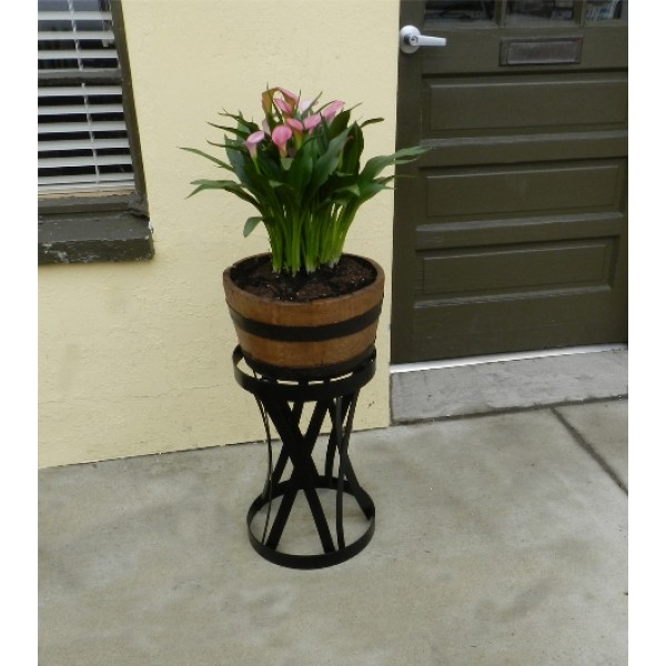 5 Gallon Half Barrel Planter with Tall Stand