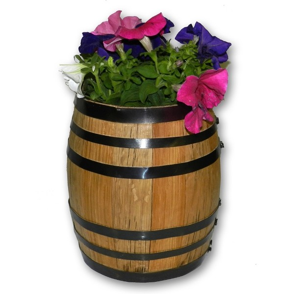 Authentic Oak Barrel Planter