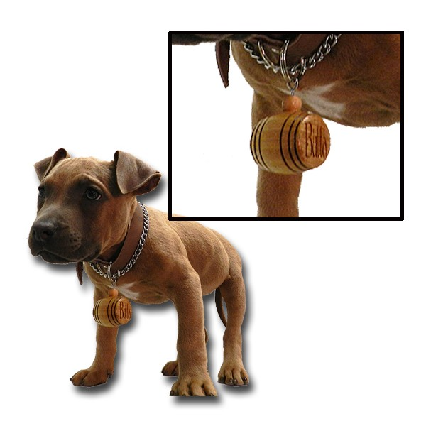 Dog Collar Mini Oak Barrel Charm