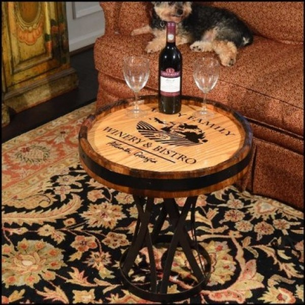Personalized Chataeu Quarter Barrel Coffee Table