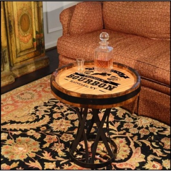 Personalized Quarter Barrel Coffee Table