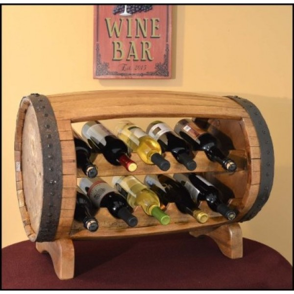 Table Top Barrel Wine Rack
