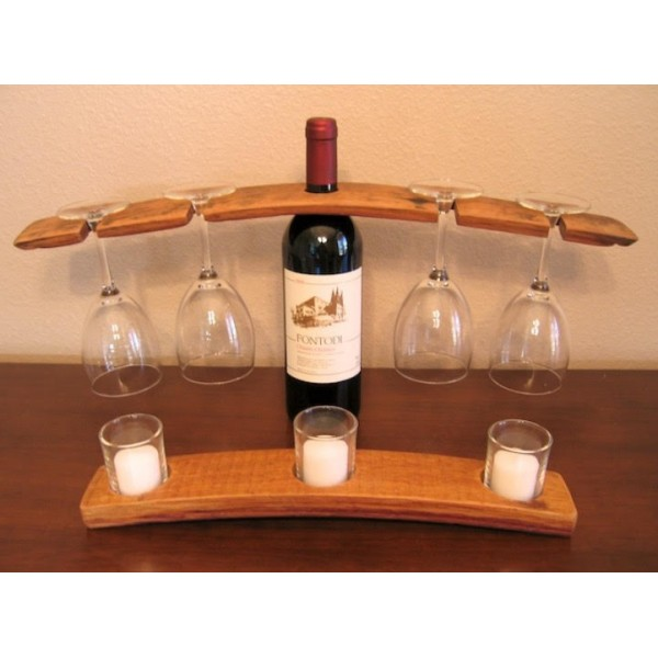 Barrel Stave Wine Bottle Holder