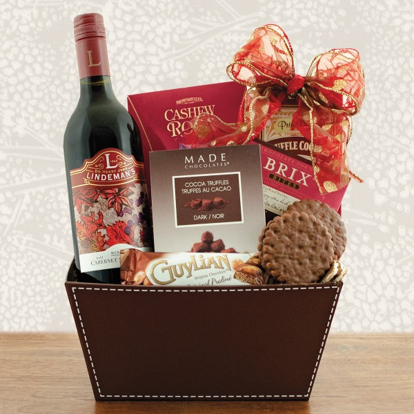 Cabernet Wine & Chocolate Gift Basket