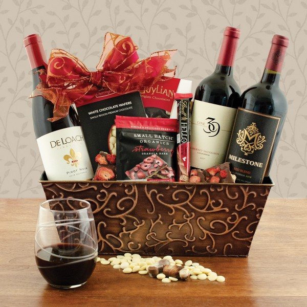 California Red Wine Trio Gift Basket