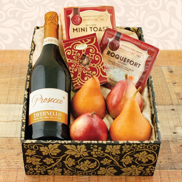 Sparkling Prosecco and Pears Gift Basket