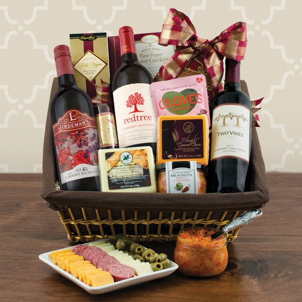Cabernet Wine and Cheese Gift Basket