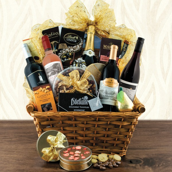Grand Gourmet Wine and Champagne Gift Basket