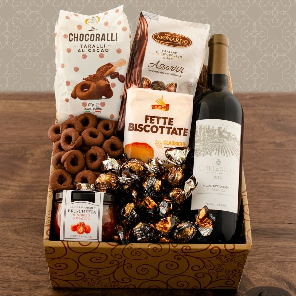 Italian Kitchen Wine Gift Basket