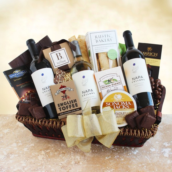 Napa Cellars Gourmet Wine Gift Basket