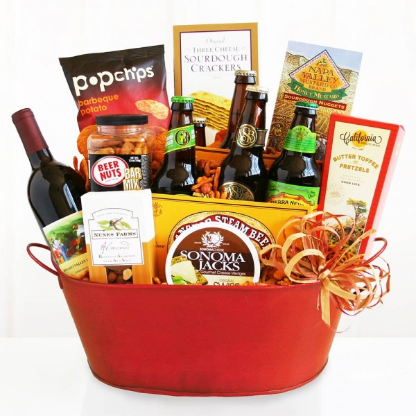 GET THE PARTY STARTED! WINE AND BEER BASKET