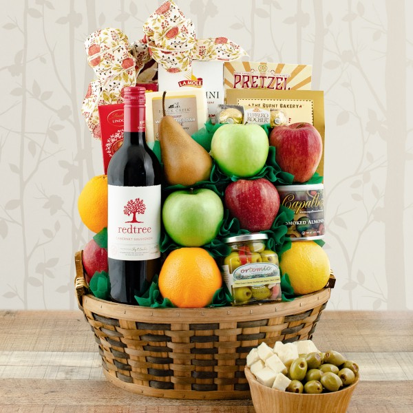 Cabernet Wine and Fruit Gift Basket
