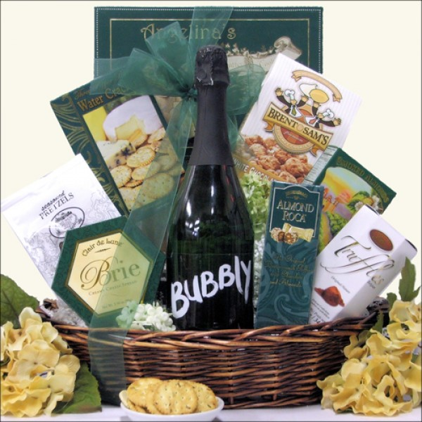 MAKE IT BUBBLY: SPARKLING WINE GIFT BASKET