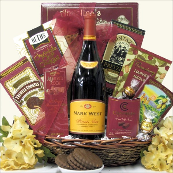 MARK WEST PINOT NOIR: WINE GIFT BASKET
