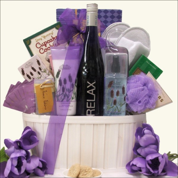 RELAX RIESLING: WINE & SPA GIFT BASKET