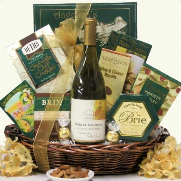 ROBERT MONDAVI PRIVATE SELECTION CHARDONNAY: GOURMET WINE GIFT BASKET