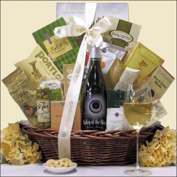 VALLEY OF THE MOON PINOT BLANC: SYMPATHY WINE GIFT BASKET