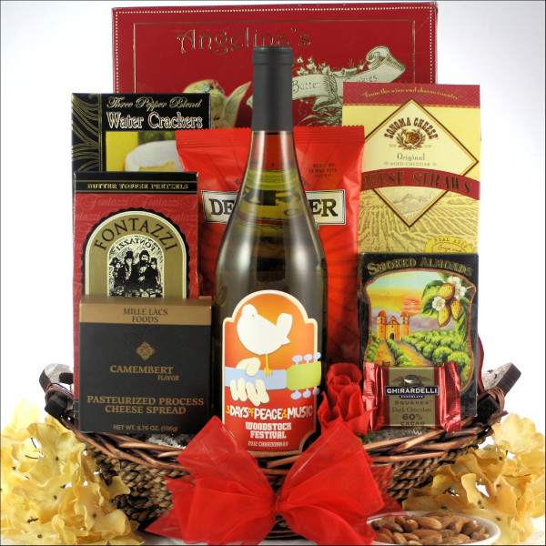 WOODSTOCK CHARDONNAY: ROCK & ROLL WINE GIFT BASKET