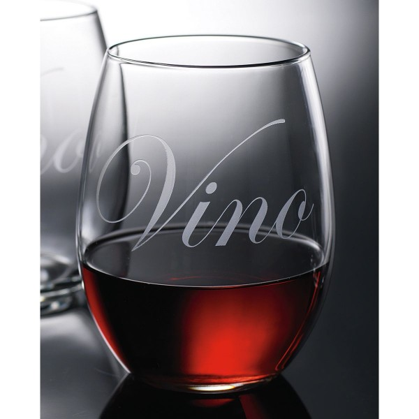 Vino Etch 21oz Stemless Wine Glass | Set of 6
