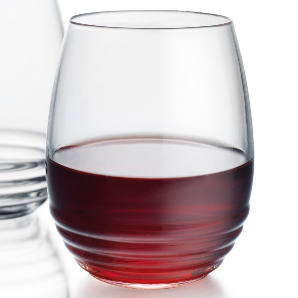 Ribbed 18oz Stemless Wine | Set of 4
