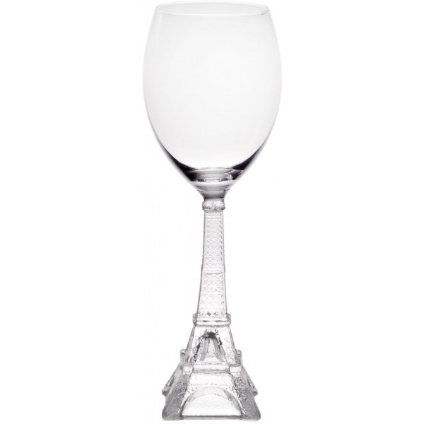 Vintage Eiffel Tower 10oz White Wine Glass | Set of 4