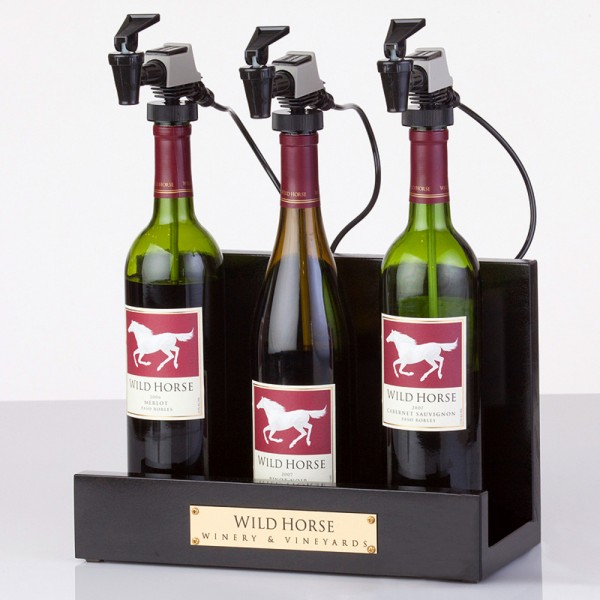 WineKeeper Showcase 3-Bottle (Black) Argon