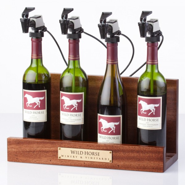 WineKeeper Showcase 4-Bottle (Mahogany) Argon