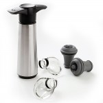 Vacu Vin Wine Saver Gift Set Stainless Steel