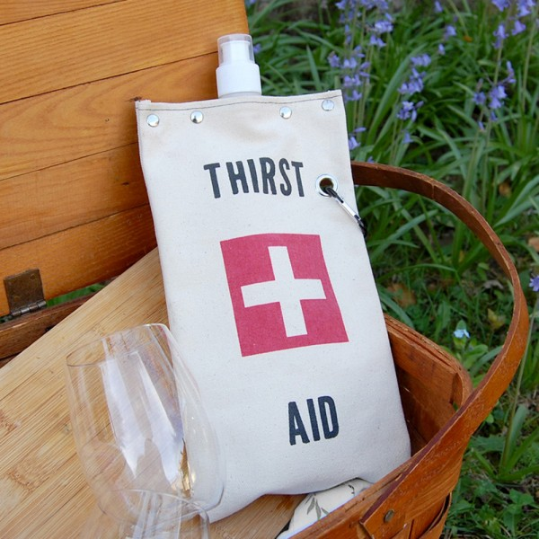 Thirst Aid Canvas Tote Set of 2