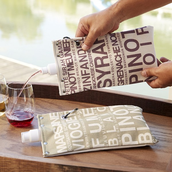 Red & White Wine Canvas Totes Set of 2