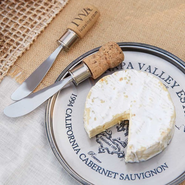 Cork Cheese Knives Set of 2, #16588