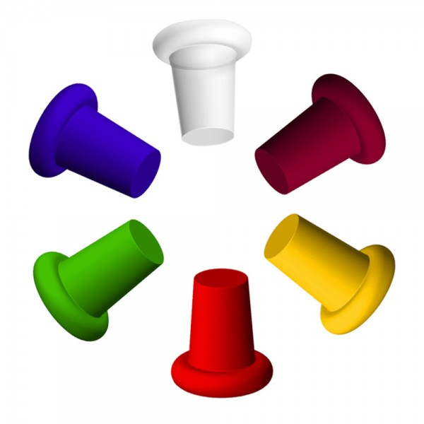 IWA Silicone Wine Bottle Stoppers Set of 6