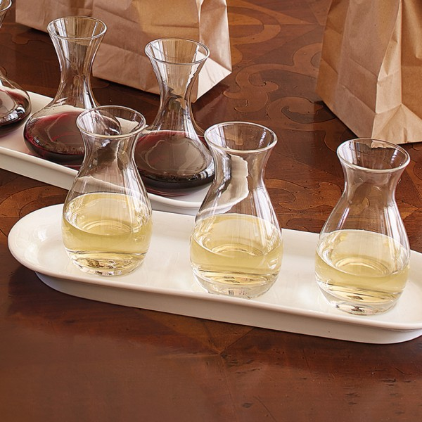 White Wine Quartino Wine Flight Set