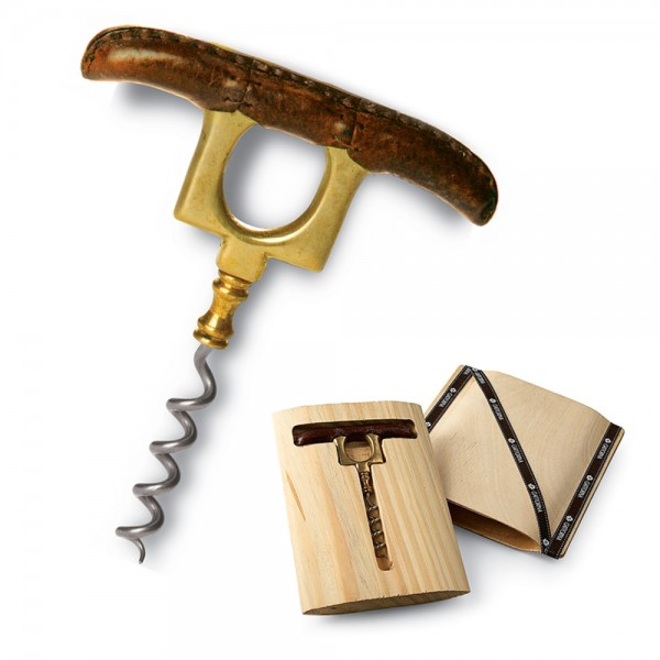 Leather Handle T-Corkscrew
