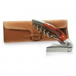 Rosewood Corkscrew with Leather Pouch