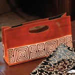 Tribal BYO Leather Wine Clutch