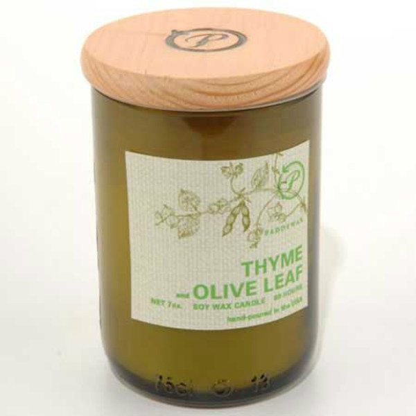 Eco-Candle In Bottle, Thyme & Olive Leaf
