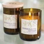 Eco-Candle In Bottle, Bordeaux-Fig & Vetiver