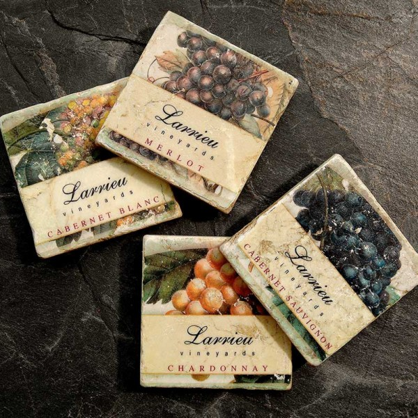 Personalized Grape Marble Coasters, #6571