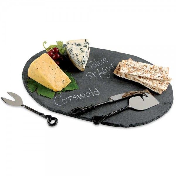 Oval Slate Serving Board