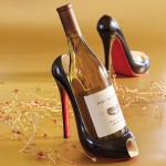 Classic Black Stiletto Wine Bottle Holder