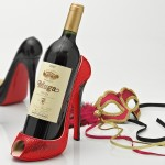 Lust Red Sequin Stiletto Wine Bottle Holder