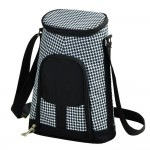Houndstooth 2-Bottle Tote with Cheese Set