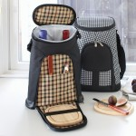 London 2-Bottle Tote with Cheese Set