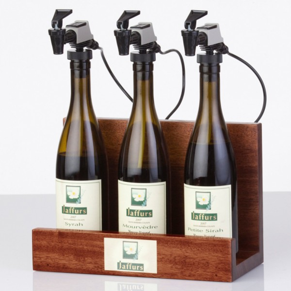 WineKeeper Showcase 3-Bottle (Mahogany) Nitrogen
