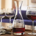Lucca Etched Crystal Glass Decanter 750 ml