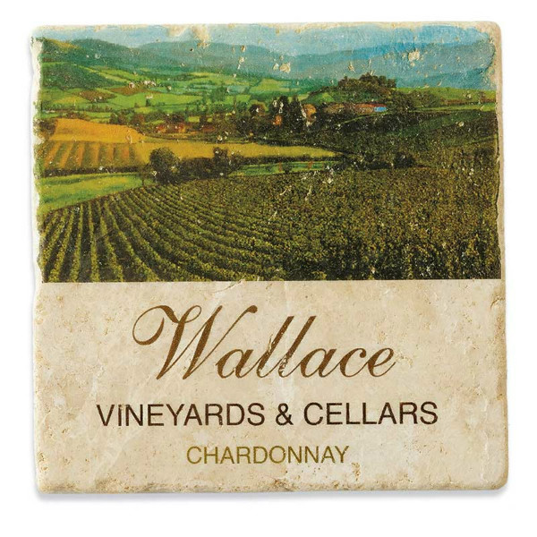 Personalized Vineyards Marble Coasters