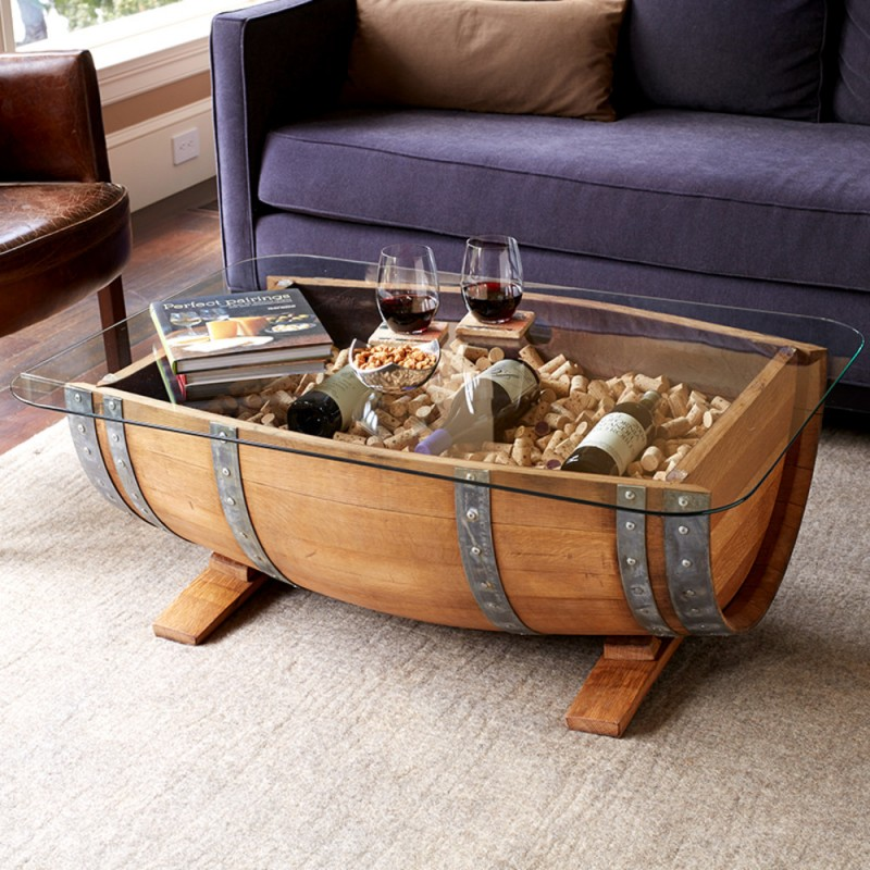 Wine Barrel Coffee Table.Wine Barrel Coffee Table
