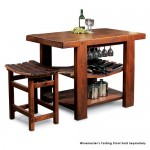 Barrel Stave Tasting Table & Stools Set