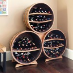 Half Barrel Bottle Rack